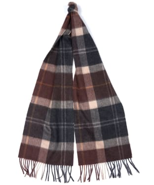 Barbour Tartan Cashmere Scarf - Brown / Charcoal
