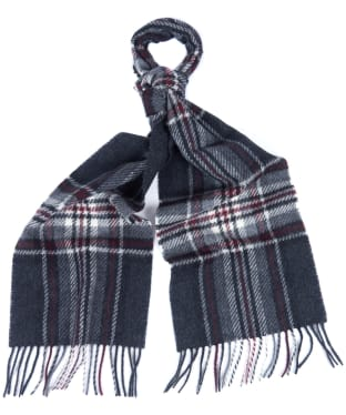 Barbour Lowerfell Scarf - Grey / Ecru / Port
