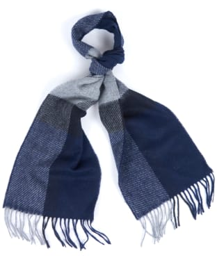 Barbour Oakwell Lambswool Scarf - Navy / Grey