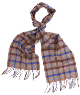 Barbour Mini Tattersall Scarf - Brown / Blue
