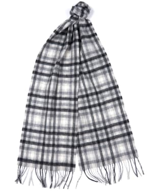 Barbour Mini Tattersall Scarf - Grey / Black