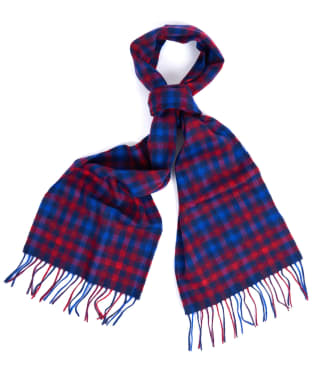 Barbour Mini Tattersall Scarf - Dark Navy / Red