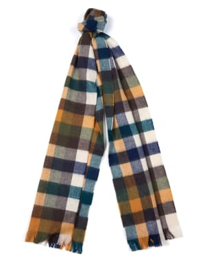Barbour Nine Square Scarf - Green / Mustard