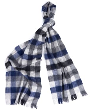 Barbour Nine Square Scarf - Grey / Black