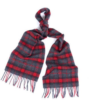 Barbour Bentham Scarf - Red / Grey