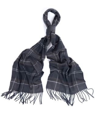 Barbour Galingale Tartan Scarf - Black / Grey