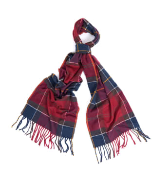 Barbour Galingale Tartan Scarf - Red