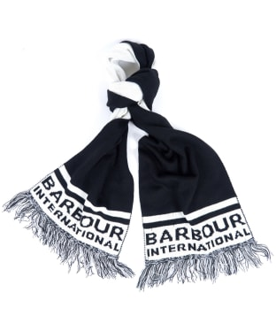 Barbour International Fleet Knit Scarf - Black / White