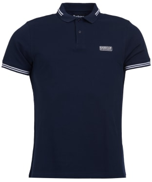 Men's Barbour International Essential Tipped Polo Shirt - International Navy