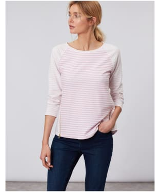Women's Joules Adaline Jersey Top - Pink / Cream Stripe