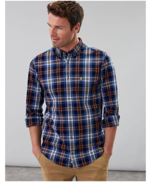 Men's Joules Lyndhurst Classic Poplin Shirt - Blue Multi Check