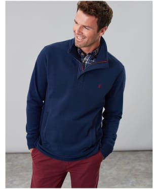 Men's Joules Deckside Half Zip Sweatshirt - Navy
