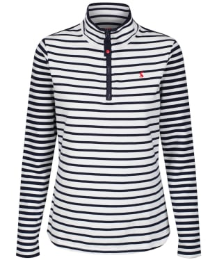 Women's Joules Fairdale Sweatshirt - Cream / Navy Stripe