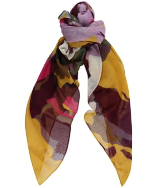 Women's Joules Atmore Printed Square Scarf - Gold Floral