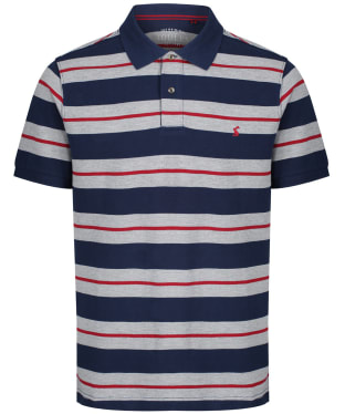 Men's Joules Filbert Polo Shirt - Navy Marl Stripe
