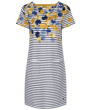 Women's Joules Francis Square Neck Dress - Lilypad Border Stripe
