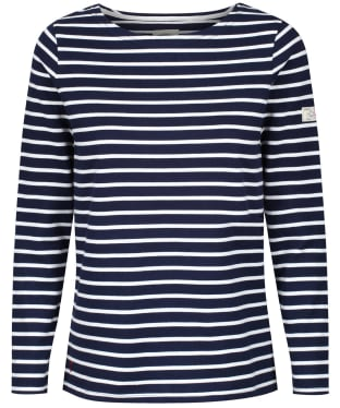 Women's Joules Long Sleeved Harbour Top - Navy / Cream Stripe