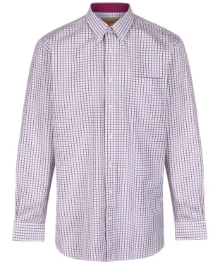 Men's Schoffel Banbury Shirt - Pink / Olive Check