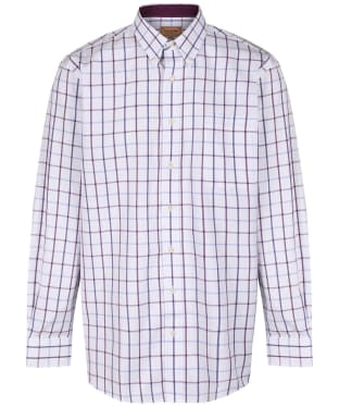 Men's Schoffel Brancaster Shirt - Purple Check