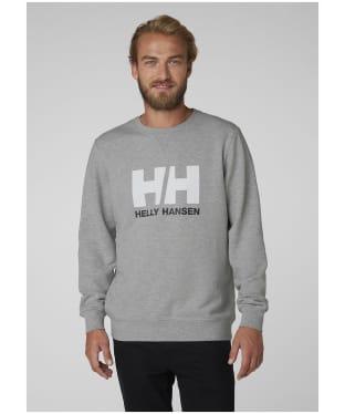 Men's Helly Hansen Logo Crew Sweater - Grey Melange