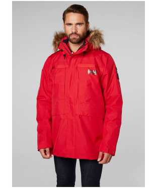 Men's Helly Hansen Coastal 2 Waterproof Parka - Flag Red