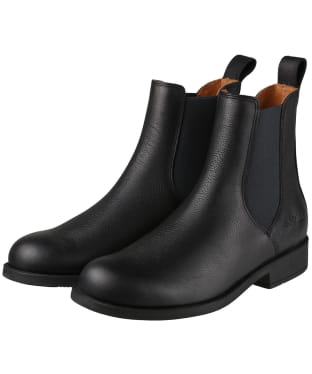 Women's Aigle Caours Leather Chelsea Boots - Black
