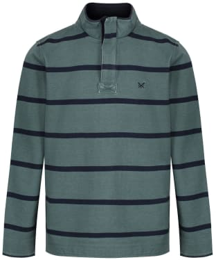 Men's Crew Clothing Padstow Pique Sweatshirt - Fern / Navy