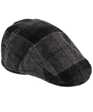 Men's Barbour Moons Tweed Cap - Black / Grey Tartan