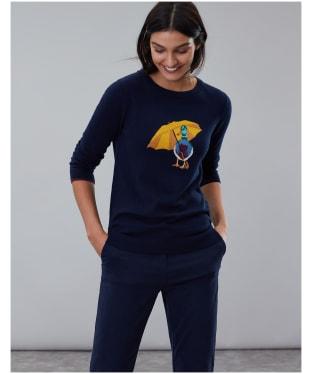 Women's Joules Miranda Crew Neck Jumper - Navy Duck
