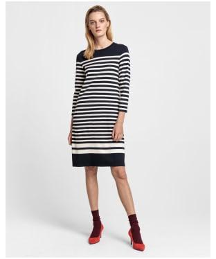 Women's GANT Striped Shift Dress - Evening Blue