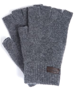 Men's Barbour Edzell Fingerless Gloves - Mid Grey
