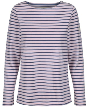 Women's Joules Long Sleeved Harbour Top - Pink / Navy Stripe