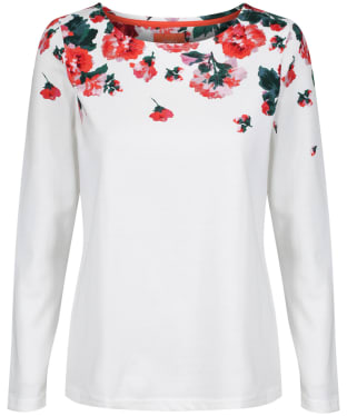 Women's Joules Harbour Print Top - Cream / Rose Border