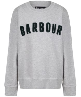 Boy's Barbour Prep Logo Crew Sweatshirt, 6-9yrs - Grey Marl