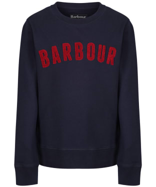Boy's Barbour Prep Logo Crew Sweatshirt, 6-9yrs - Navy