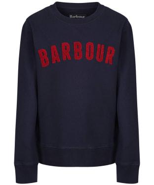 Boy's Barbour Prep Logo Crew Sweatshirt, 10-15yrs - Navy