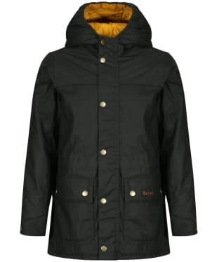 Boy's Barbour Durham Waxed Jacket, 2-9yrs - Sage