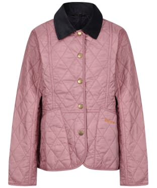 Girl's Barbour Summer Liddesdale Quilted Jacket, 2-9yrs - Rose Bay