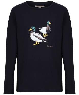Girl's Barbour Brecon Tee, 2-9yrs - Navy