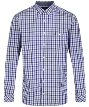 Men's Joules Abbott Classic Fit Shirt - White / Navy Check