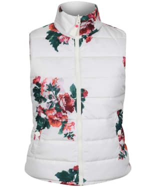 Women's Joules Holbrook Reversible Gilet - Cream Rose