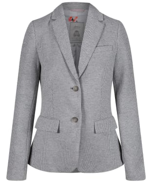 Women's Joules Juliane Jersey Blazer - Grey Dogstooth