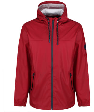 Men's Joules Portwell Lightweight Waterproof Jacket - Deep Red