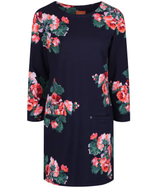 Women's Joules Quinn Printed Tunic Top - Navy Rose
