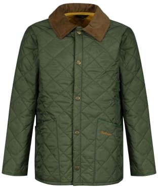 Boy's Barbour Liddesdale Quilted Jacket, 10-15yrs - NEW MOSS