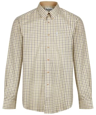 Men's Barbour Sporting Tattersall Shirt - Long Sleeve - New Navy / Olive