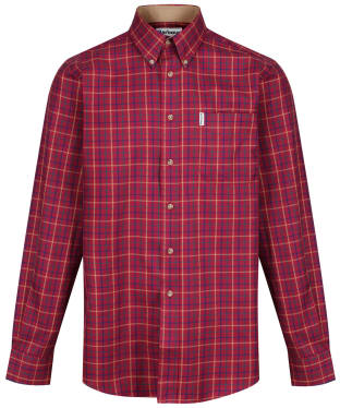 Men's Barbour Sporting Tattersall Shirt - Long Sleeve - New Ruby