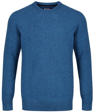 Men's Barbour Essential Lambswool Crew Neck Sweater - Blue Steel