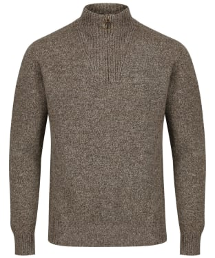 Men's Barbour Essential Wool Half Zip Sweater - Willow Green