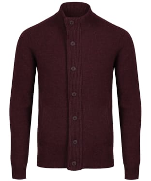 Men's Barbour Patch Zip Through Sweater - Wine